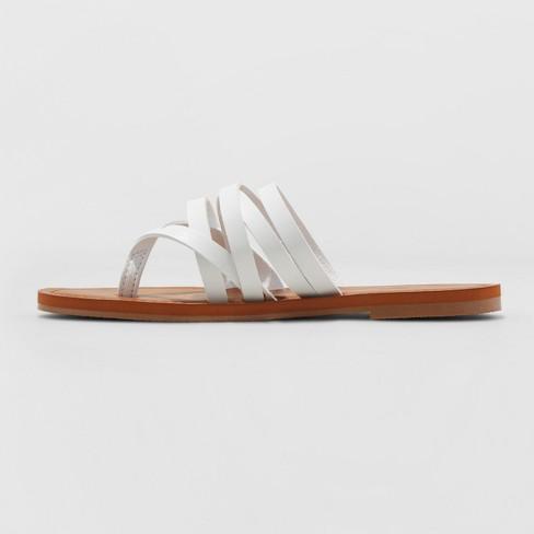 711e488a7 Women s Maritza Multi Strap Toe Slide Sandal - Universal Thread™ White 8.5    Target