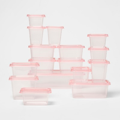 Food Storage Container Set Loring Pink - Room Essentials™