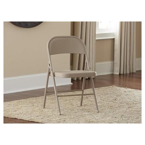 - All Steel Folding Chair - Antique Linen (Set Of 4) - Cosco : Target