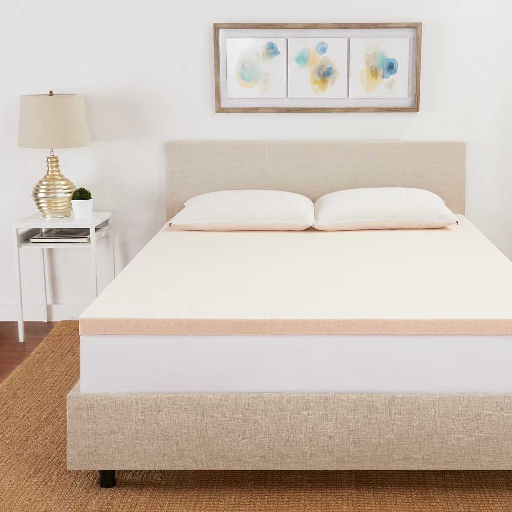 Image of California King 2 CopperFresh Gel Memory Foam Mattress Topper Beige - Sleep Studio