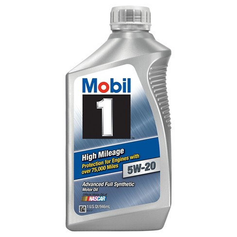 Mobil High Mileage Motor Oil 5W-20-1 quart