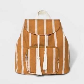 Cotton Striped Mini Flap Backpack - Wild Fable™ Orange