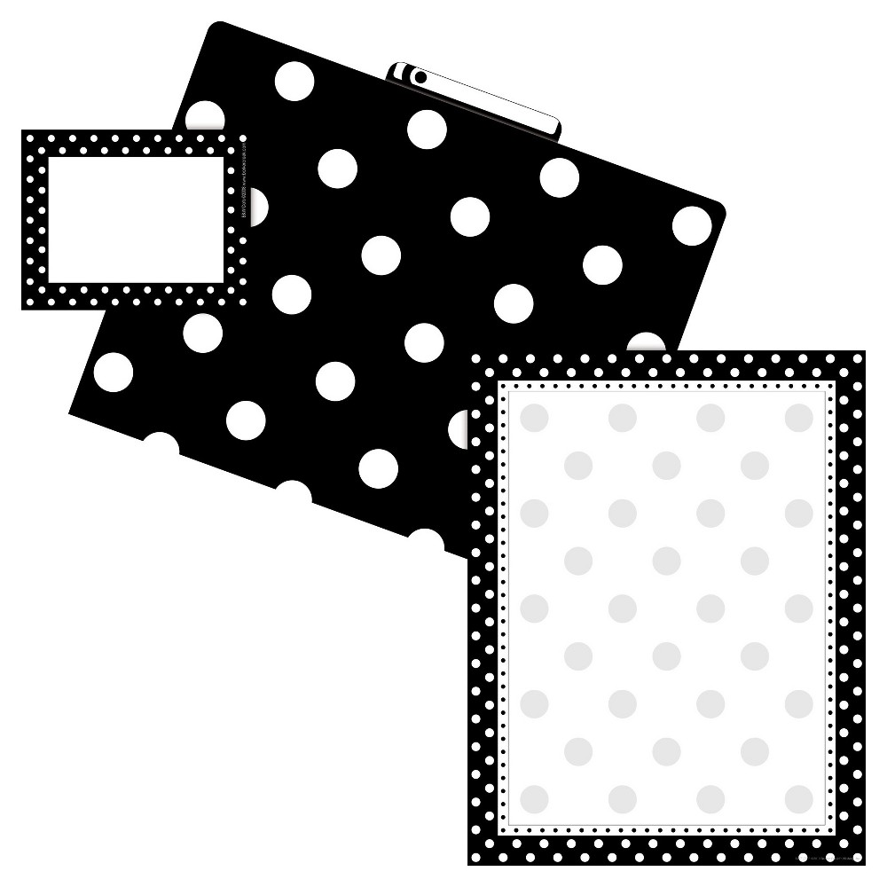 Barker Creek Get Organized File Folder 38 Paper Kit Dot