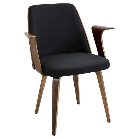 Verdana Mid-Century Modern Walnut Wood Chairs - LumiSource - image 1 of 4