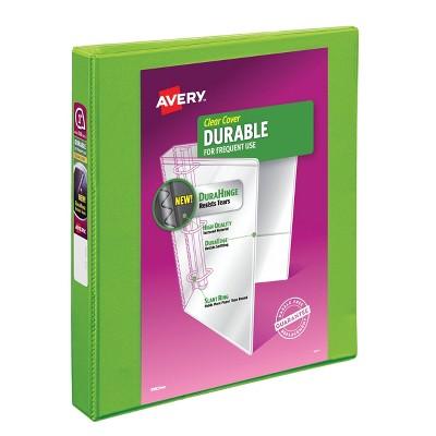 "Avery 1"" Slant Rings 220 Sheet Capacity Durable View Binder - Green"