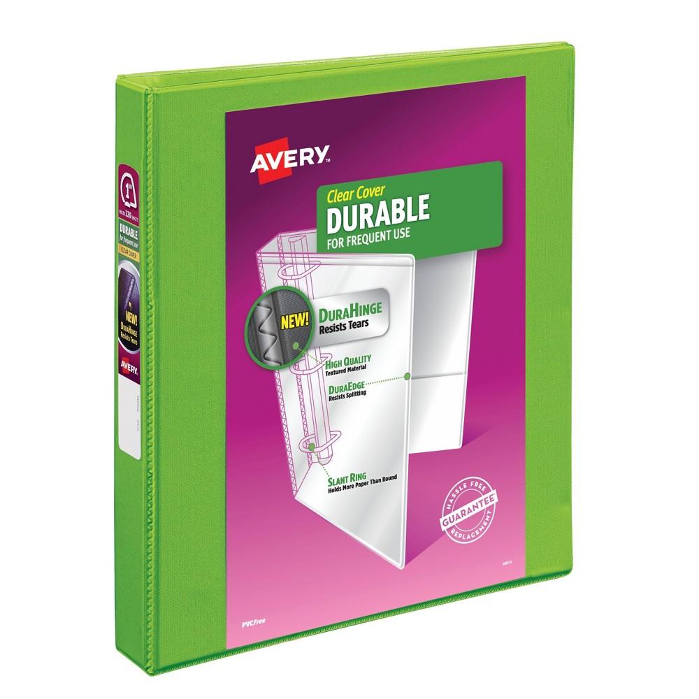 "Image of ""Avery 1"""" Slant Rings 220 Sheet Capacity Durable View Binder - Green"""