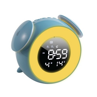 """Insten 5"""" Digital LED Clock with 7 Color Switch Light, Touch Control, Snooze, Dual Alarms Blue"""
