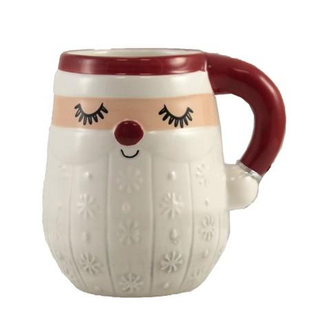 """Tabletop 4.75"""" Santa Mug Christmas Earthenware Ganz  -  Drinkware - image 1 of 3"""