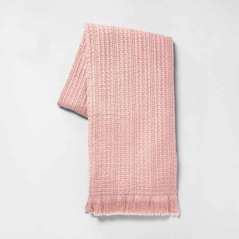 "60"" x 70"" Summer Throw Blanket Dusty Rose - Hearth & Hand™ with Magnolia - image 1 of 4"