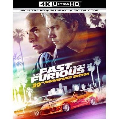 Fast & Furious: 20th Anniversary Edition (SteelBook) (4K/UHD + Blu-ray + Digital)