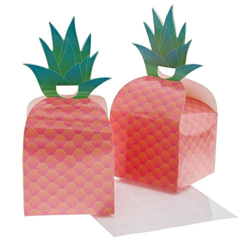 "Juvale 24-Pack Tropical Pineapple Party Favor Paper Treat Gift Boxes Take Out Containers 3.6""x3.6""x2.9"" - image 1 of 3"