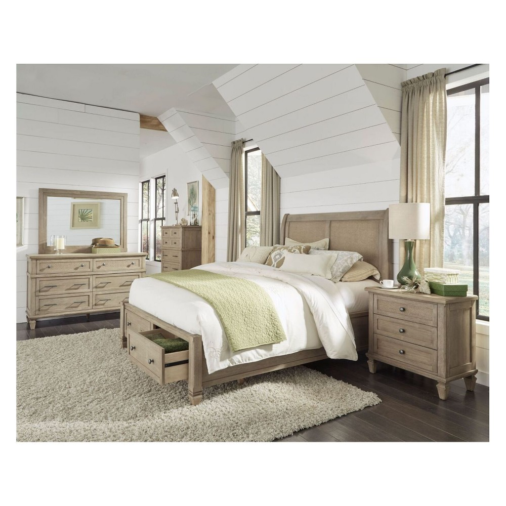 Coronado Complete Queen Storage Bed Brown - Progressive Furniture