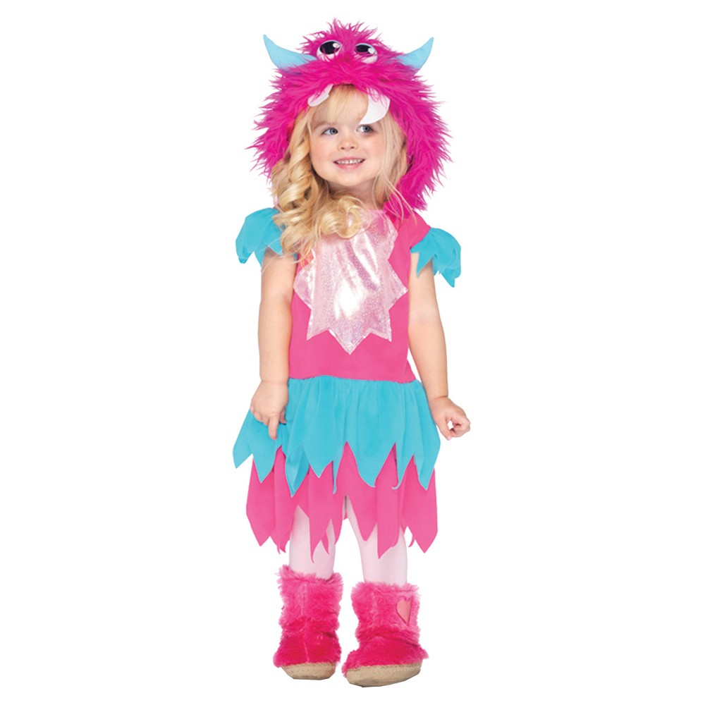 Girls' Sweetheart Monster Toddler Costume 2t-3t, Size: 3T, Multicolored