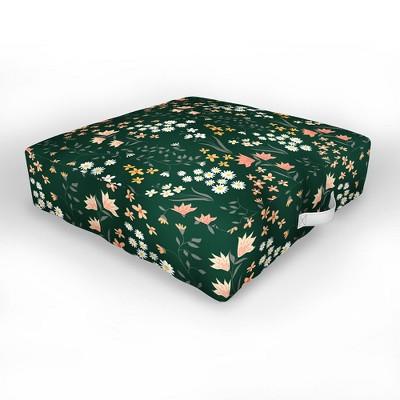Emanuela Carratoni Meadow Flowers Theme Outdoor Floor Cushion - Deny Designs