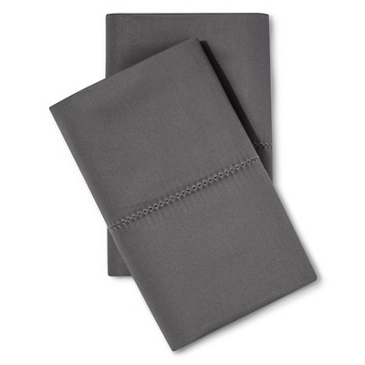 Standard 700 Thread Count Supima Classic Hemstitch Pillowcase Set (Standard)Molten Lead - Fieldcrest®