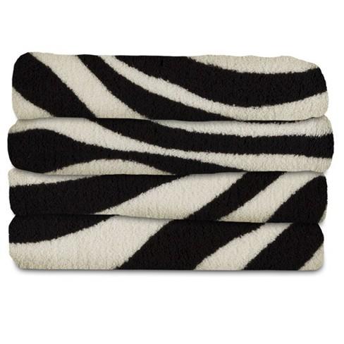Fleece Electric Throw Zebra Black Sunbeam