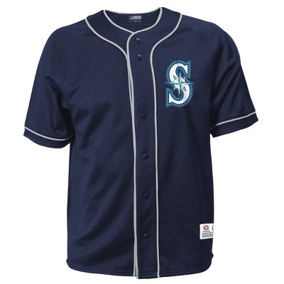 MLB Seattle Mariners Men's Button-Down Jersey