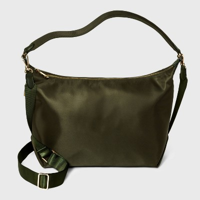 Zip Closure Shoulder Handbag - A New Day™ Green