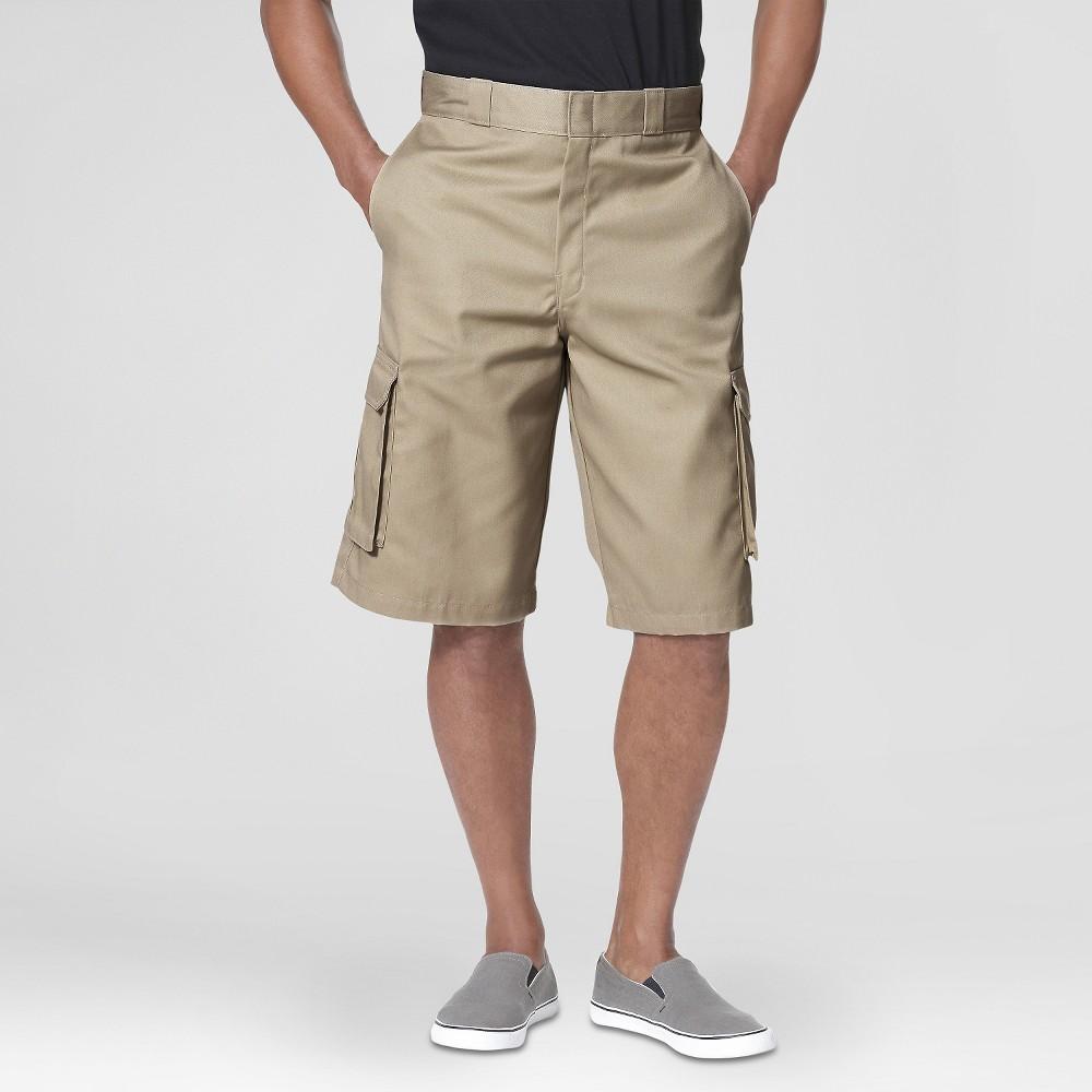 Dickies Men's Loose Fit Twill 13 Cargo Shorts- Desert Sand 34
