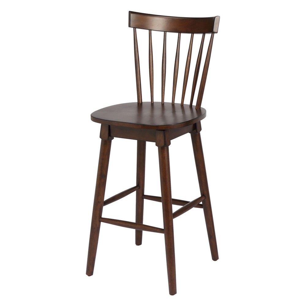 Miraculous 45 Elise Bar Height Swivel Stool Walnut Brown Foremost Ibusinesslaw Wood Chair Design Ideas Ibusinesslaworg