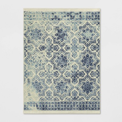 5'X7' Geometric Tufted Area Rug Blue - Threshold™