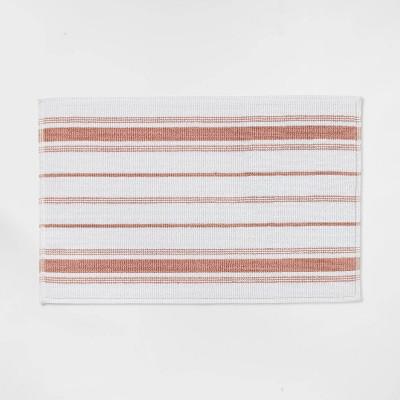 "21""x30"" Performance Cotton Bath Mat Clay Accent Stripe - Threshold™"