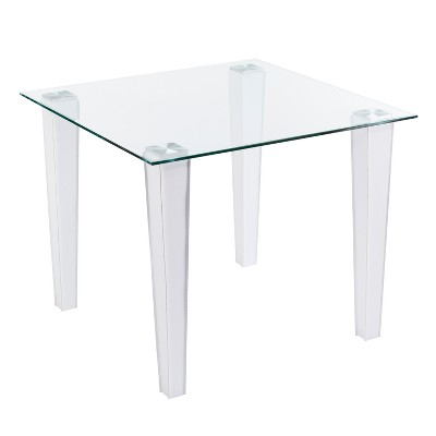 Perriton Square Small Space Dining Table White   Aiden Lane by Aiden Lane