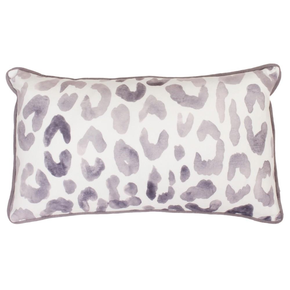 Miron Cheeta Print Oversize Lumbar Throw Pillow Purple - Decor Therapy