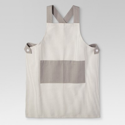 Gray Stripe Kitchen Textiles Cooking Apron - Threshold™