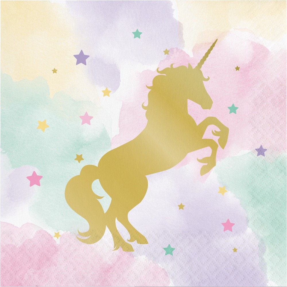 16ct Creative Converting Sparkle Unicorn Napkins
