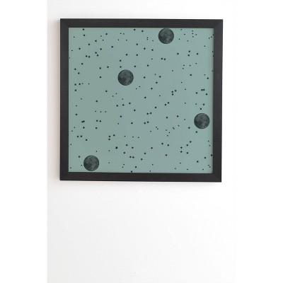 "12 ""x 12"" Emanuela Carratoni Autumnal Moon Pattern Framed Wall Poster - Deny Designs"