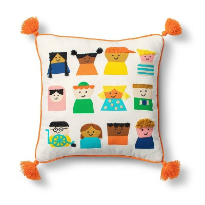 Kids Embroidered Square Throw Pillow - Christian Robinson x Target