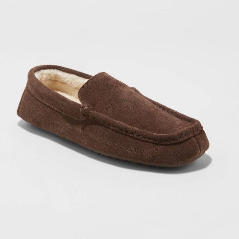 Men's Carlo Slippers - Goodfellow & Co.™ Chocolate - image 1 of 4