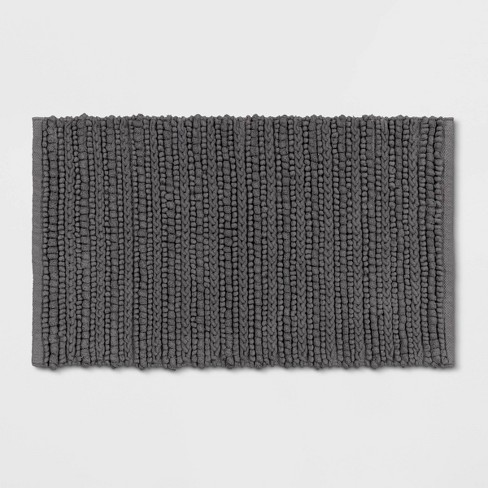 "20""x32"" Chunky Bath Rug Radiant Gray - Threshold™ - image 1 of 2"