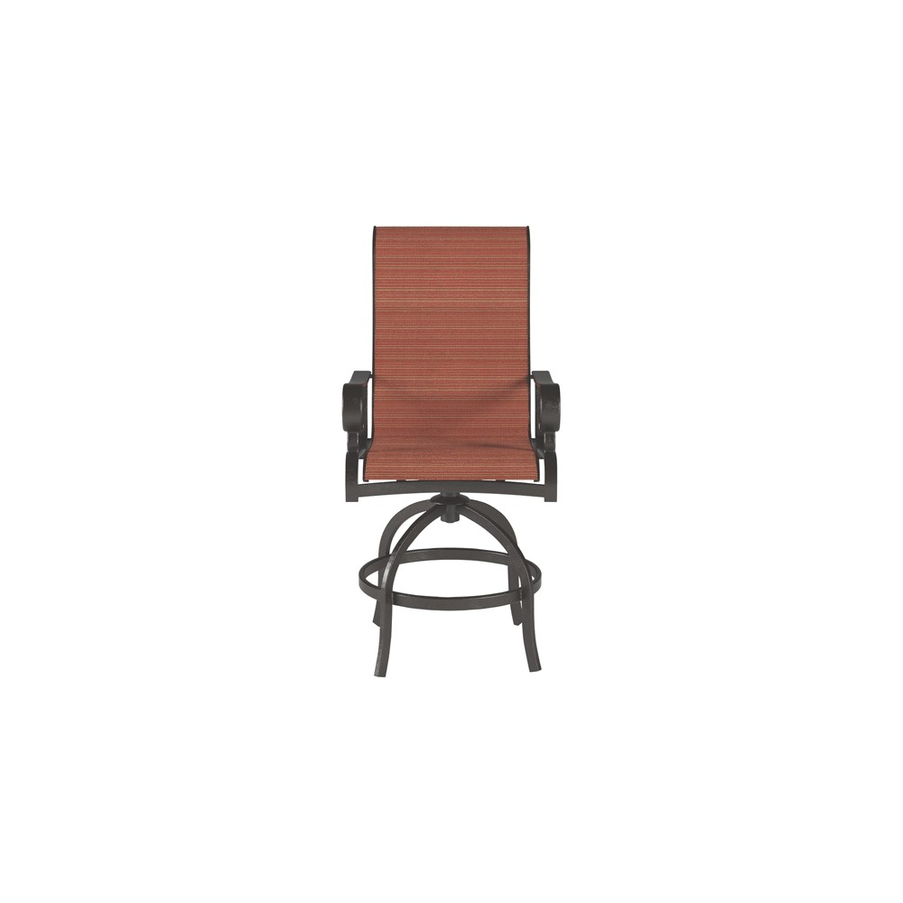 Apple Town 2pk Sling Barstool - Burnt Orange - Outdoor by Ashley, Bunt Orange