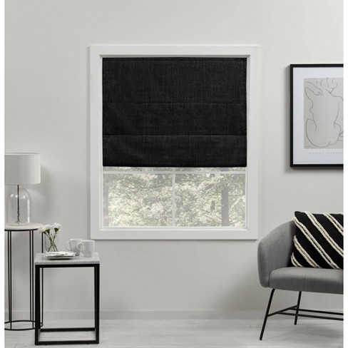 Acadia Total Blackout Roman Curtain Shades - Exclusive Home - image 1 of 4