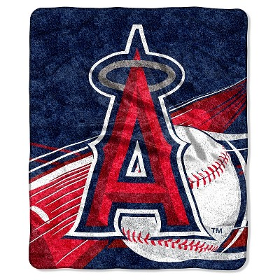 MLB Los Angeles Angels Sherpa Throw Blanket