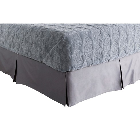 Conthey Medallion and Damasks Bed Skirt Dark Gray - Surya® - image 1 of 1