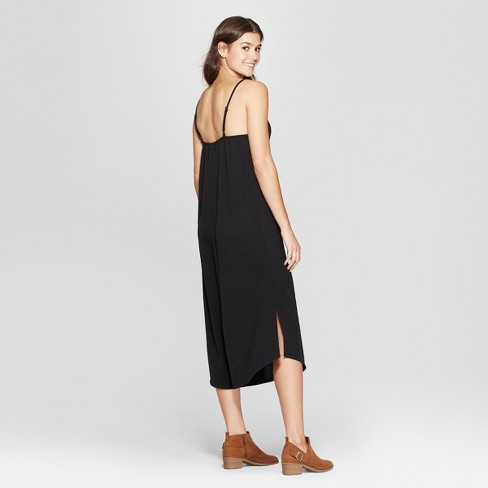 3905740efc30 Women s Strappy Knit Waistless Jumpsuit - Xhilaration™ Black   Target