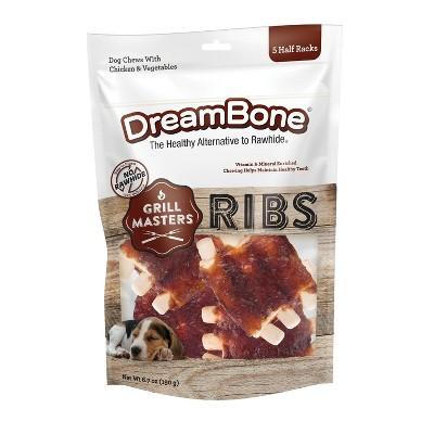 Dreambone Grill Masters Ribs Chews Dog Treats - 5ct