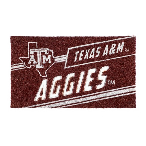 "NCAA Texas A&M Aggies Rubber Door Mat 14""x 30.5"" - image 1 of 1"