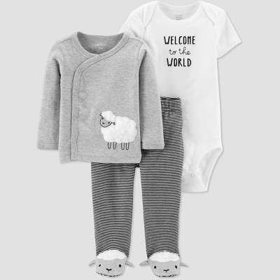 Baby Girls' Layette sets - Just One You® made by carter's Gray Newborn