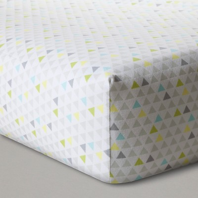 Fitted Crib Sheet Triangles - Cloud Island™ Gray