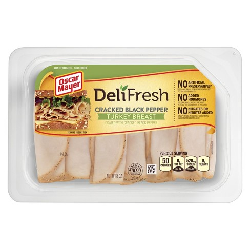 Oscar Mayer Deli Fresh Cracked Black Pepper Turkey - 8oz - image 1 of 1