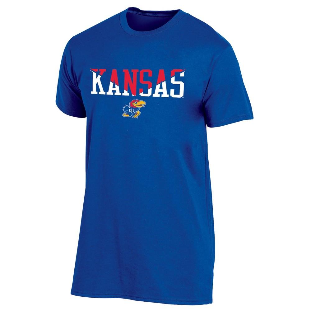 Kansas Jayhawks Men's Short Sleeve Core Wordmark T-Shirt - XL, Multicolored