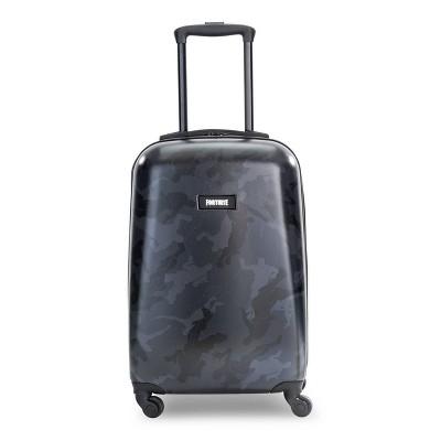 """Fortnite 20"""" Kids' Hardside Carry On Spinner Suitcase - Black"""