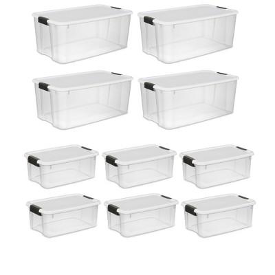 Sterilite 116-Qt Latching Storage Box 4-Pack & 18-Qt Latching Storage Box 6-Pack