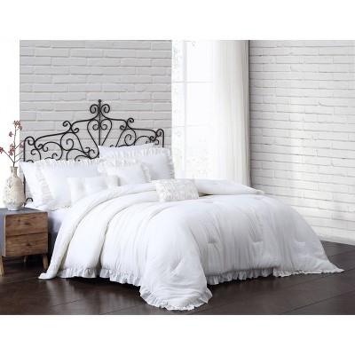 Davina Enzyme Washed Ruffle 6pc Comforter Set - Geneva Home Fashion