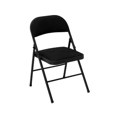 4pk Fabric Folding Chair Black - Room & Joy