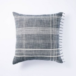 Woven Plaid Pillow Gray - Threshold™ designed with Studio McGee